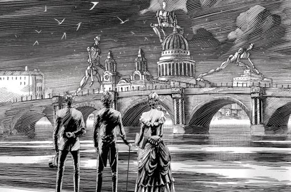 Un'illustrazione ufficiale di Shadowhunters - Le Origini