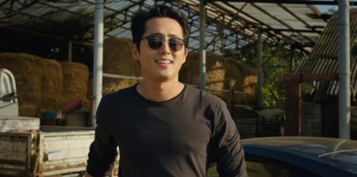 Steven Yeun in una scena di Burning di Lee Chang-dong