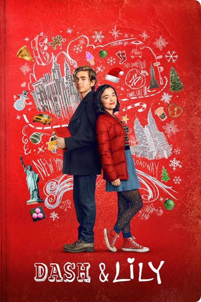 Austin Abrams e Midori Francis nel poster di Dash & Lily