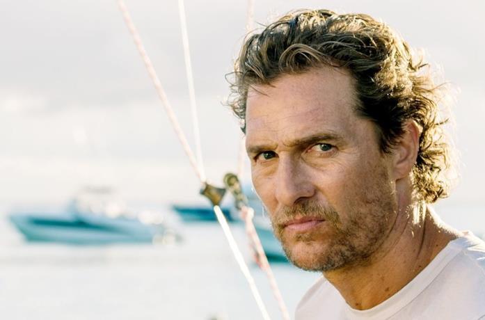 Matthew McConaughey in una scena del film Serenity - L'isola dell'inganno