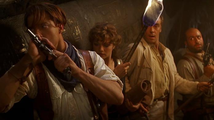 Scena del film La Mummia