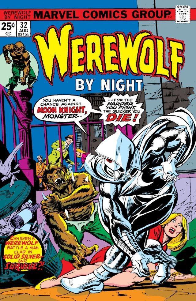 La cover del fumetto dedicato a Werewolf by night