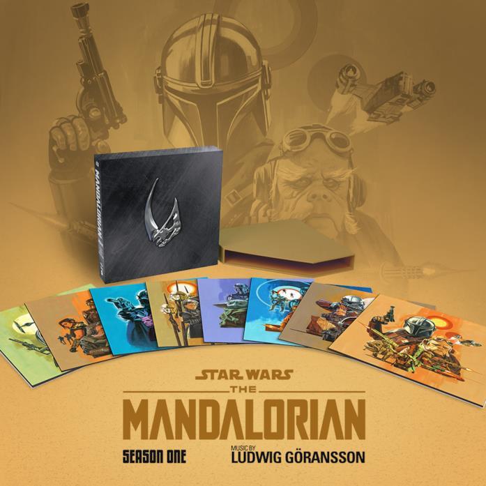 Gli 8 vinili contenuti nel cofanetto della colonna sonora di The Mandalorian