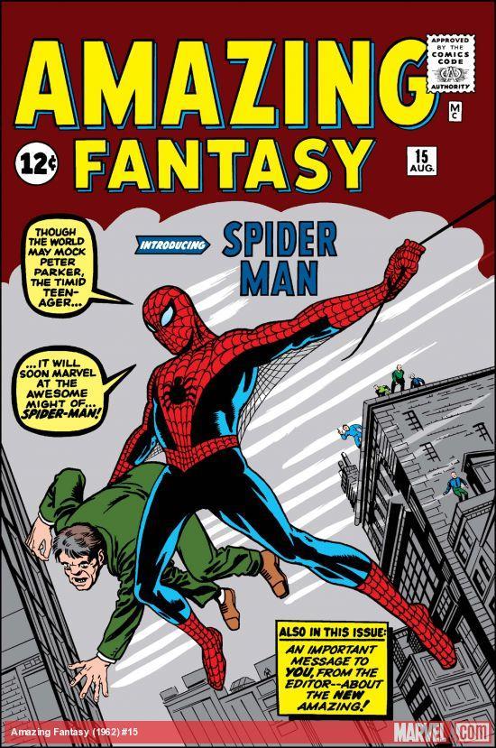 La copertina di Amazing Fantasy n. 15 del 1962