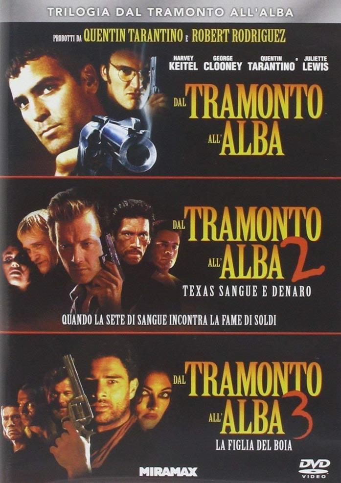 I tre film di Dal tramonto all'alba in DVD e blu-ray