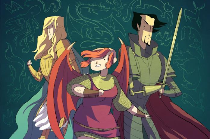 Il trio protagonista di Nimona