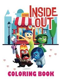Inside Out Coloring Book: A Fun Coloring Gift Book with Cartoon Characters for Kids