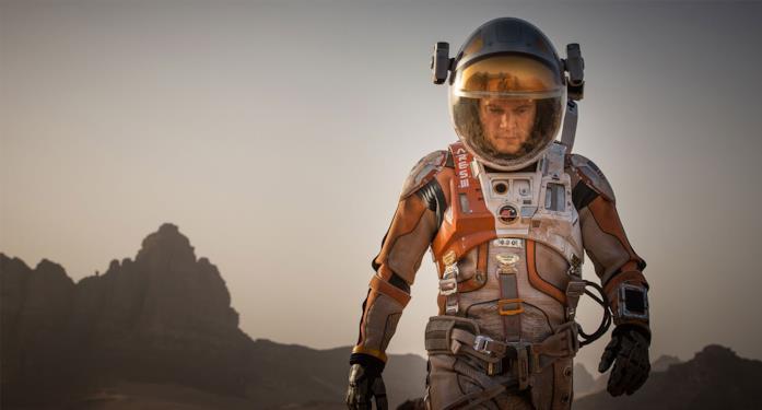 Matt Damon in una scena di Sopravvissuto - The Martian