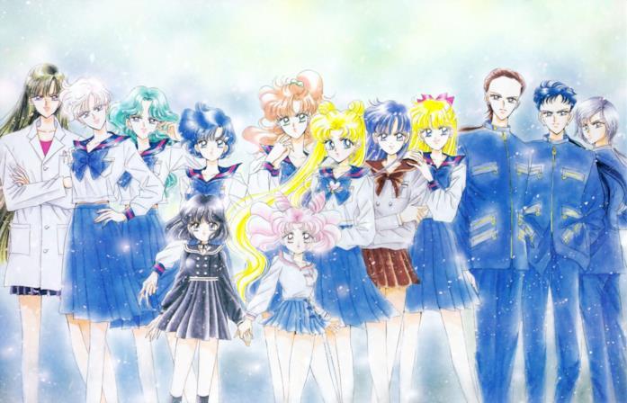 Un'illustrazione dell'arco Stars in Pretty Guardian Sailor Moon
