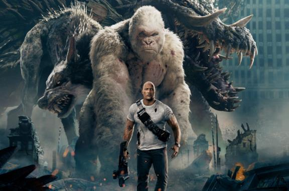 The Rock, protagonista di Rampage - Furia Animale