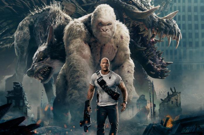 The Rock, protagonista di Rampage - Furia Animale