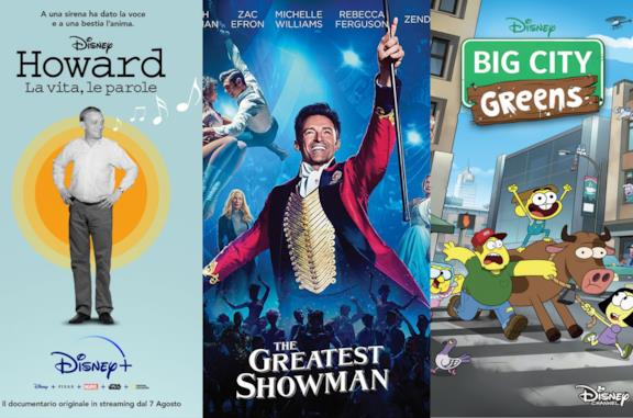 Disney+, le novità di agosto 2020: in arrivo The Greatest Showman, I Greens in città e Howard