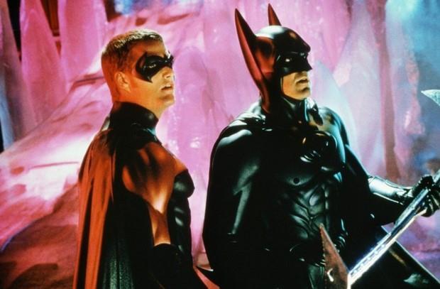 Batman e Robin in una scena di Batman & Robin di Joel Schumacher