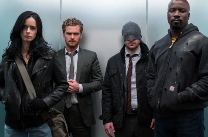 I protagonisti della serie Marvel's Defenders
