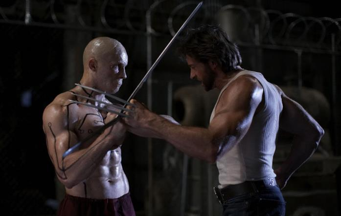 Ryan Reynolds e Hugh Jackman in una scena di X-Men le origini: Wolverine