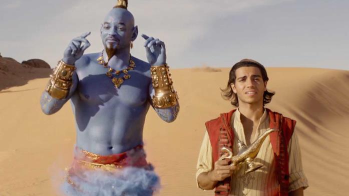 Aladdin e il Genio nel film Disney 2019