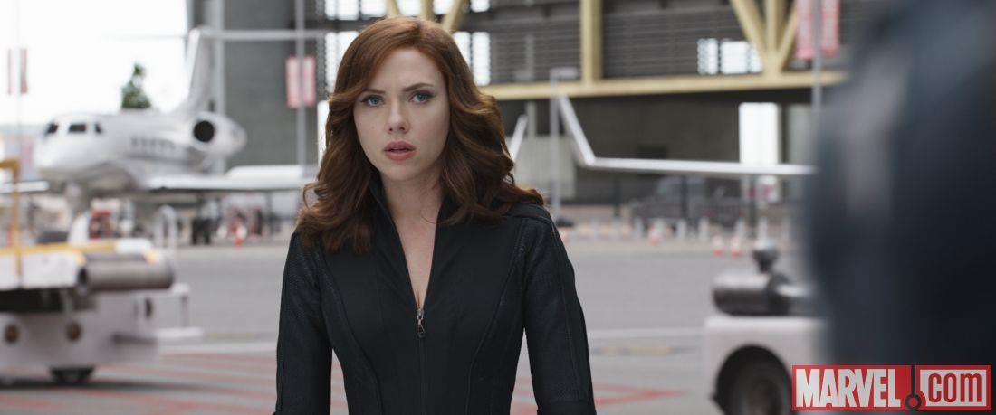 Black Widow in una scena di Capitan America: Civil War
