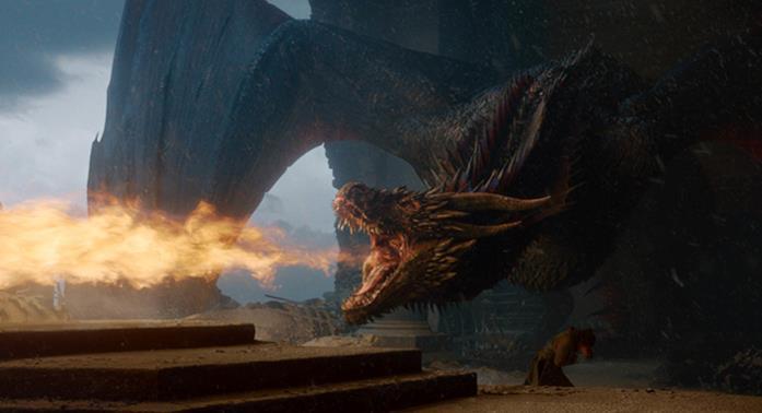 Drogon distrugge l'Iron Throne