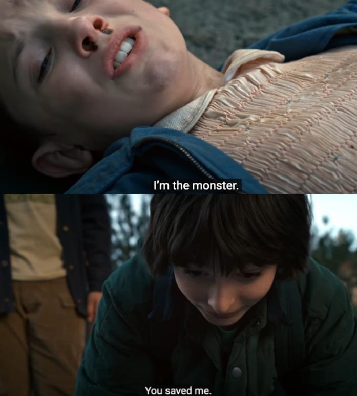 Scena romantica tra Mike e Eleven