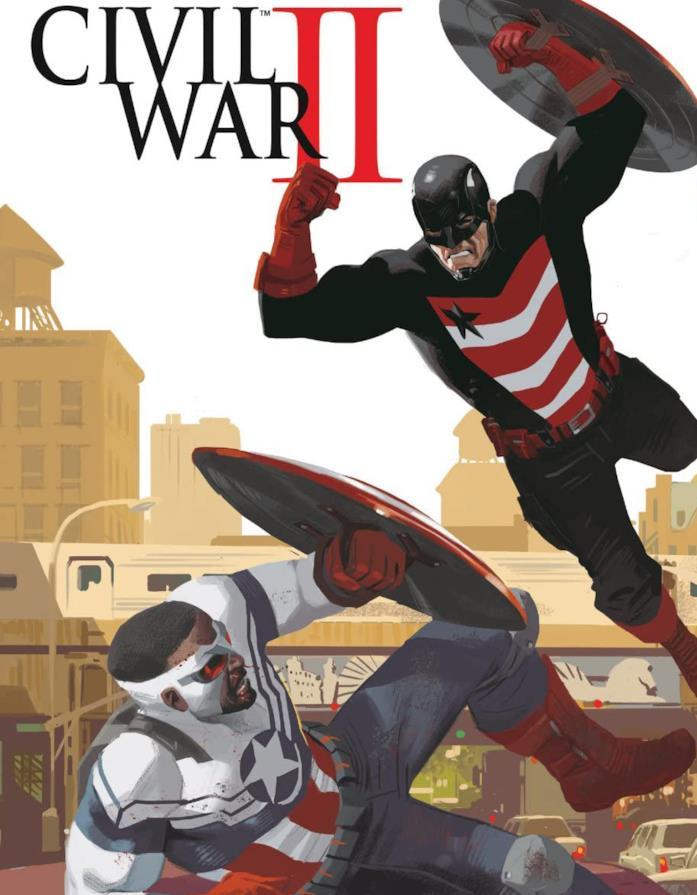 Dettaglio della cover di Captain America: Sam Wilson #13
