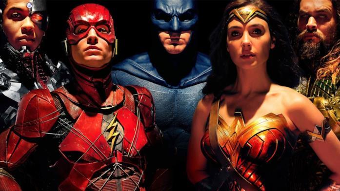 Poster promozionale di Justice League