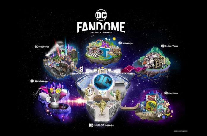 La mappa del DC FanDome