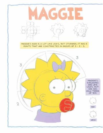 Maggie nel tutorial per disegnare i Simpson