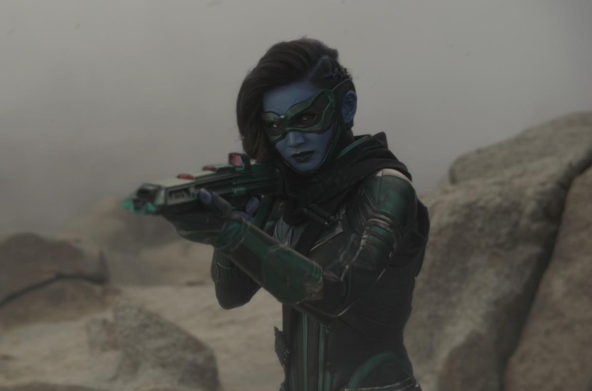 Gemma Chan nei panni di Minn-Erva in Captain Marvel