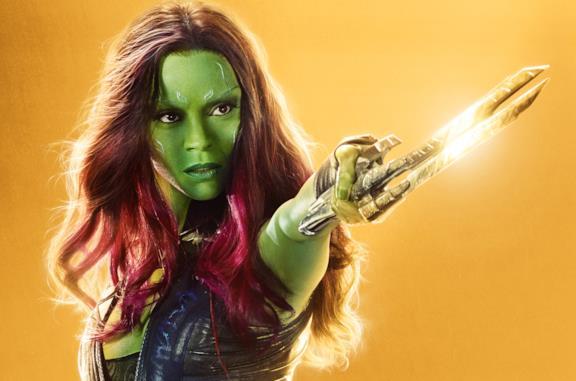 Zoe Saldana è Gamora