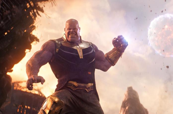 Un'immagine di Thanos in Avengers: Infinity War