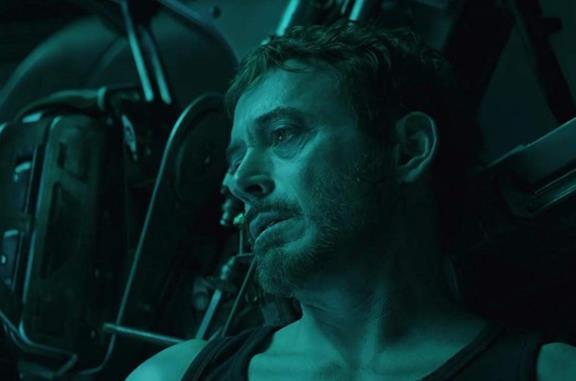 Robert Downey Jr. in una scena di Avengers: Endgame
