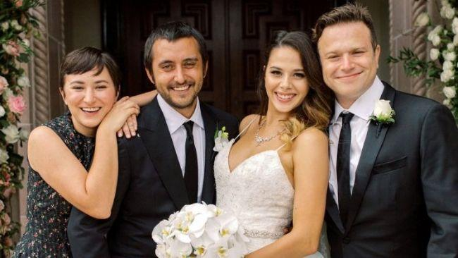 I fratelli Williams in una foto dal matrimonio di Cody con Maria Flores