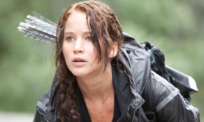 Katniss Evergreen interpretata dall'attrice Jennifer Larence