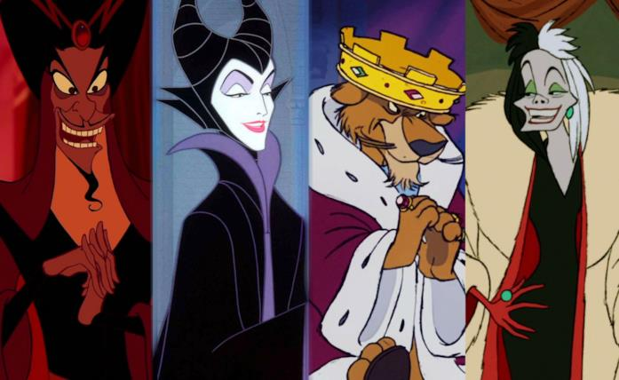 Jafar, Malefica, il Principe Giovanni e Crudelia