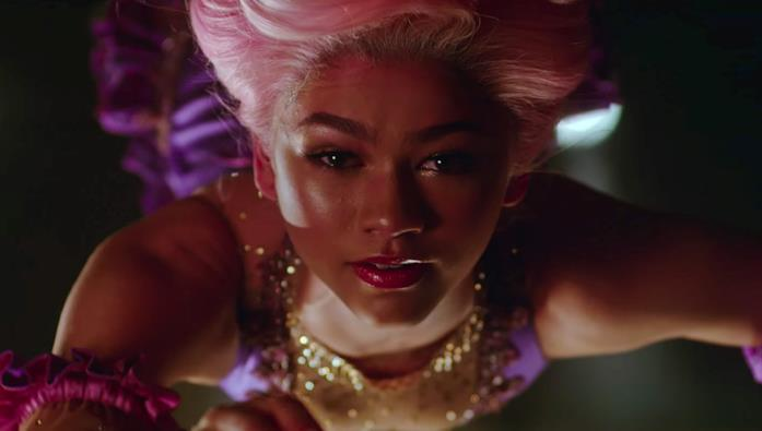Zendaya in una scena del film The Greatest Showman