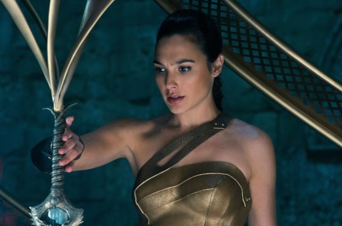 Gal Gadot in una scena del film Wonder Woman