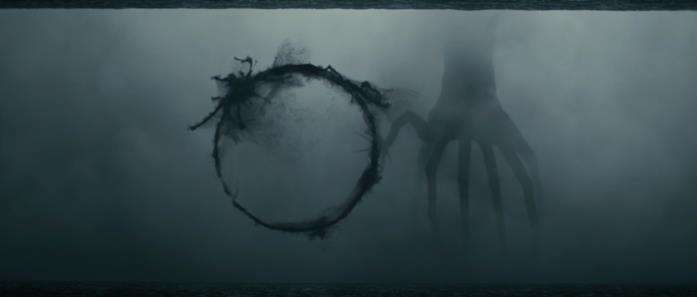 Un semagramma degli eptapodi in una scena del film Arrival