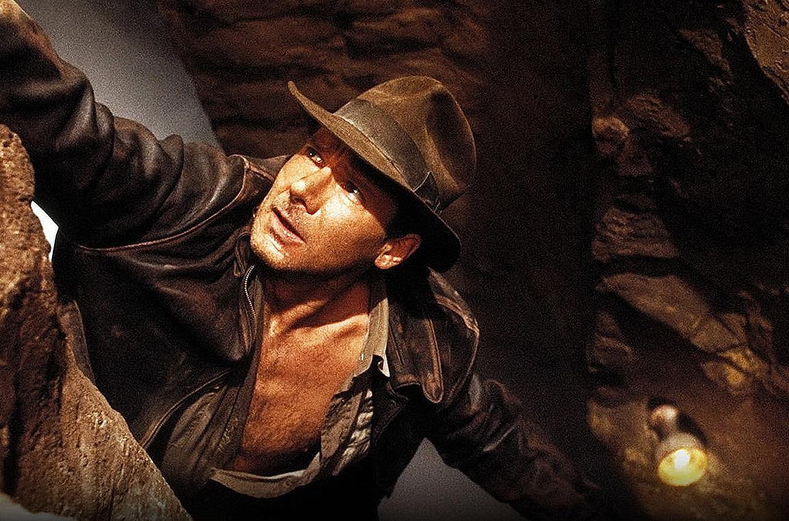 Harrison Ford sul set di Indiana Jones e l'ultima crociata