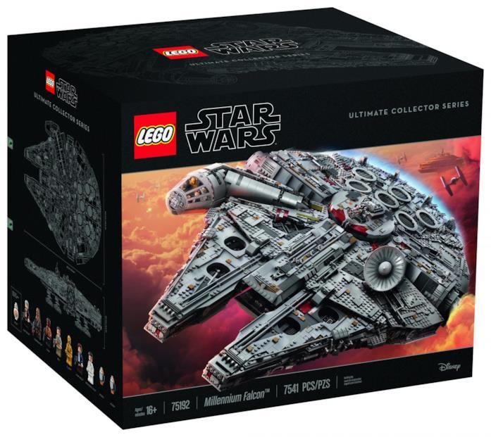 Scatola del Millennium Falcon Lego