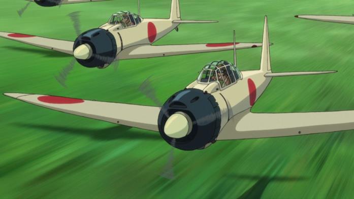 Modelli di Mitsubishi A5M, ideati da Jiro, volano in velocità