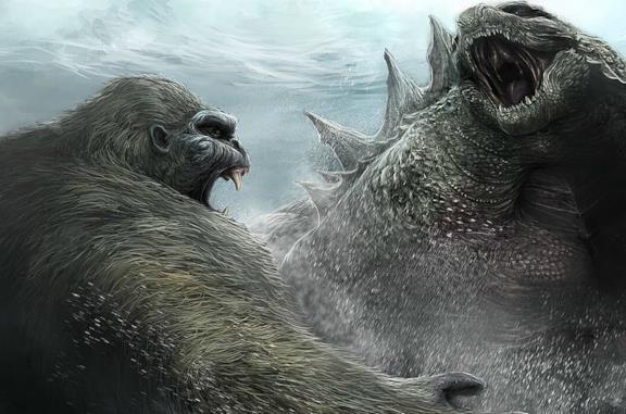 Godzilla contro Kong in una immagine promozionale del film