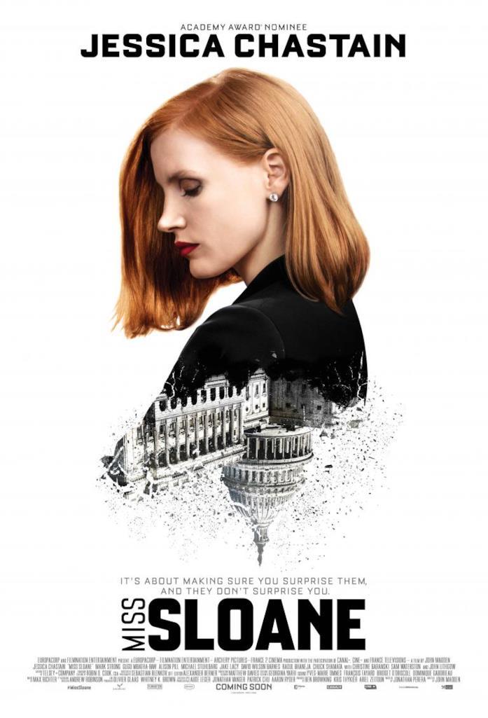 Miss Sloane, la recensione del thriller sul mondo delle lobby