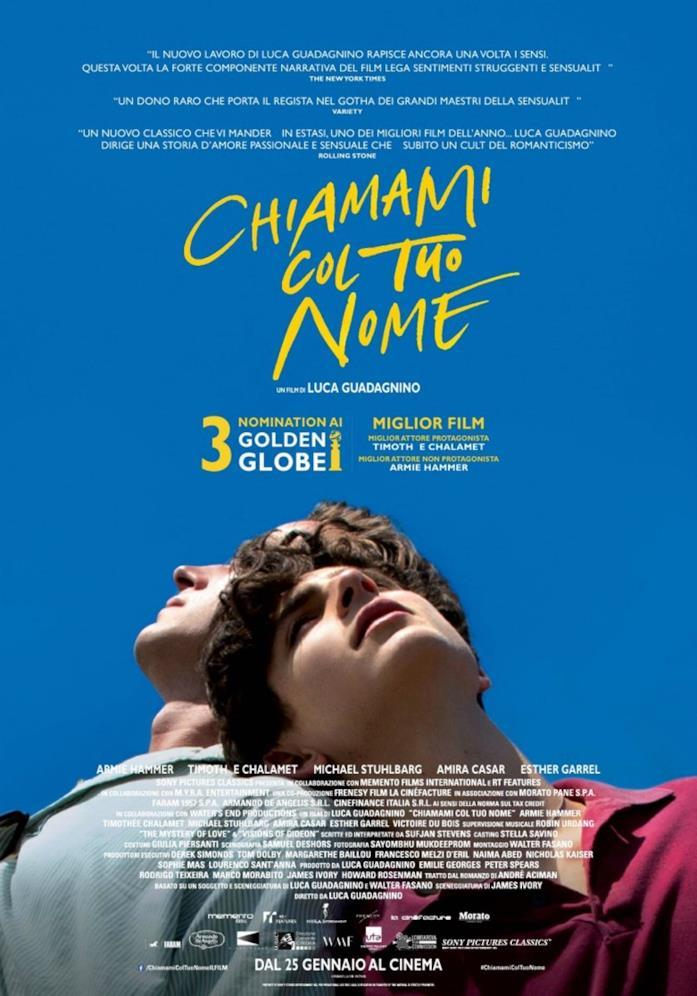 Il poster ufficiale italiano di Chiamami col tuo nome