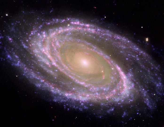 Una foto della Galassia di Bode