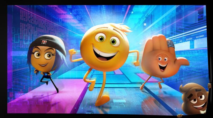 I protagonisti di The Emoji Movie