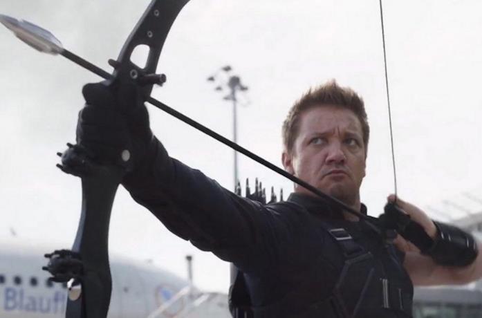 Jeremy Renner è Occhio di Falco in Civil War