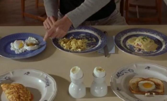 I tre piatti con le uova in Se scappi ti sposo