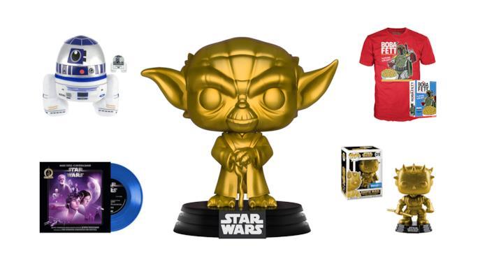 Gadget Walmar Star Wars: set peluche, vinile, Funko Pop e T-shirt