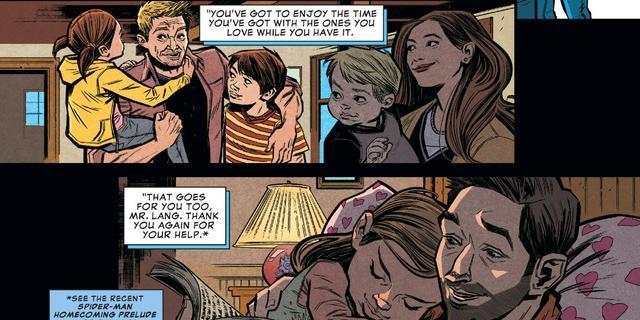 Clint Barton torna a casa e anche Scott Lang fa lo stesso