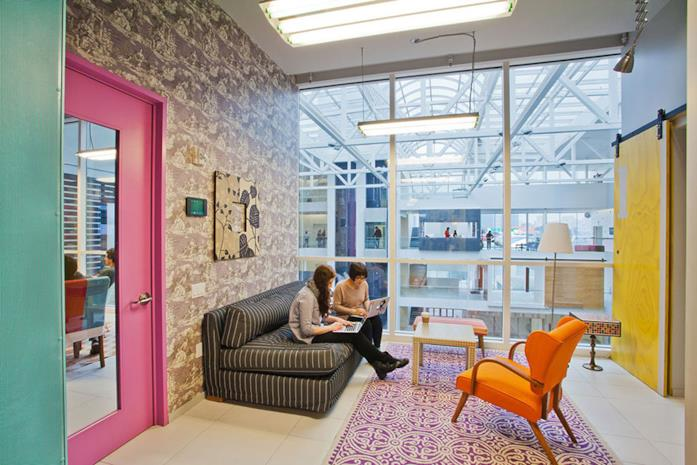 Un interno degli uffici di Airbnb a San Francisco